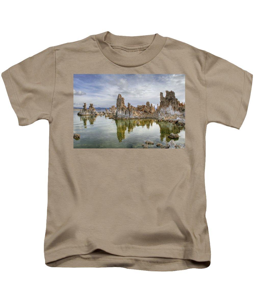 Evening Light At Mono Lake Kids T-Shirt featuring the photograph Evening Light At Mono Lake by Wes and Dotty Weber