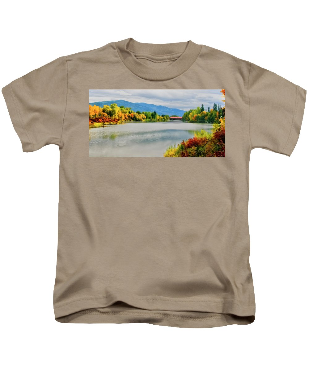 Autumn Color Kids T-Shirt featuring the photograph Fall Color At Sand Creek by Albert Seger