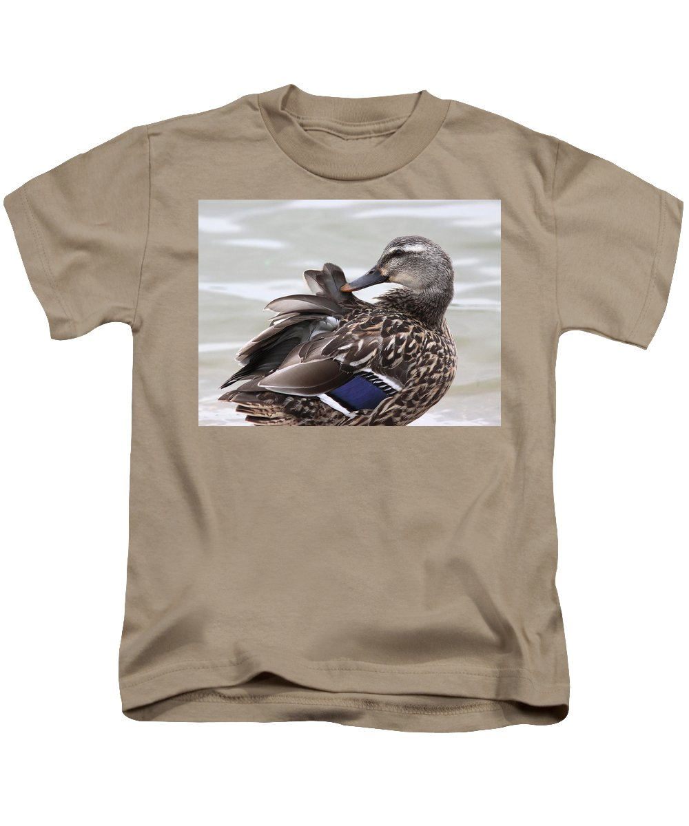 Kids T-Shirt featuring the photograph Feathers In Place by Travis Truelove