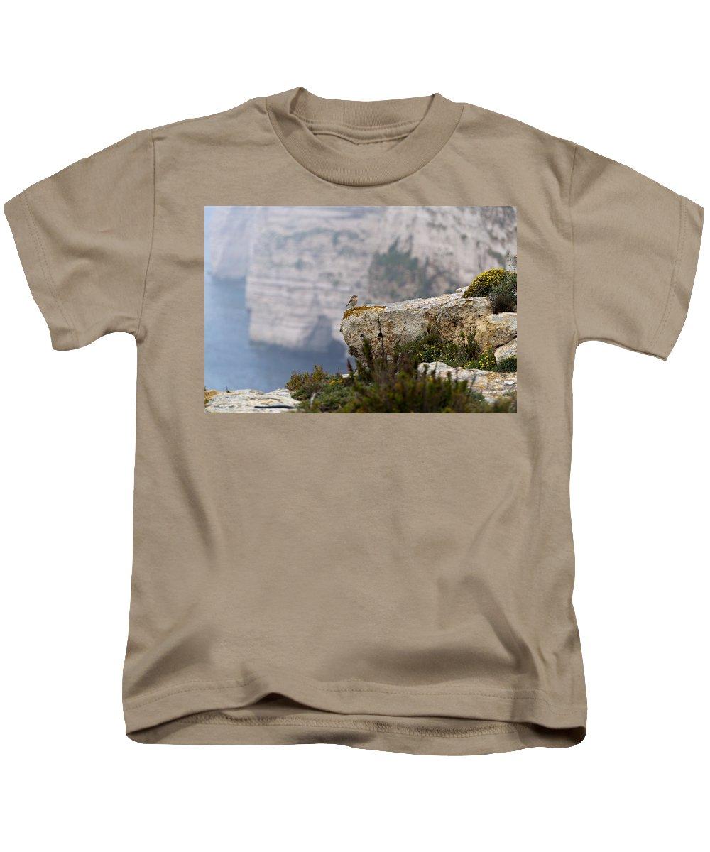 Bird Kids T-Shirt featuring the photograph Ta' Cenc Cliffs by Focus Fotos