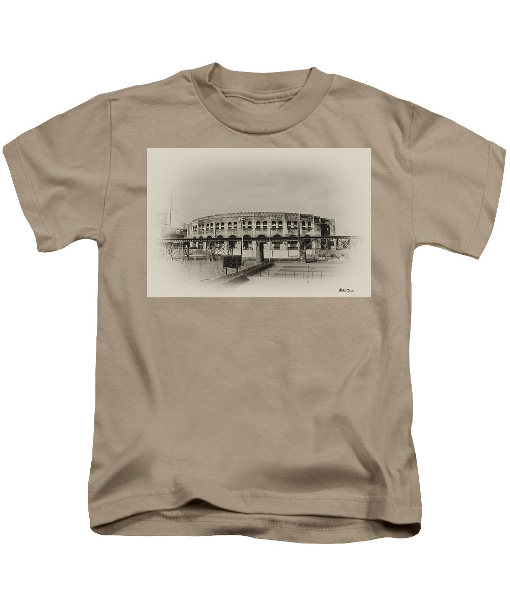 Franklin Field Kids T-Shirt featuring the photograph Franklin Field - University Of Penn by Bill Cannon
