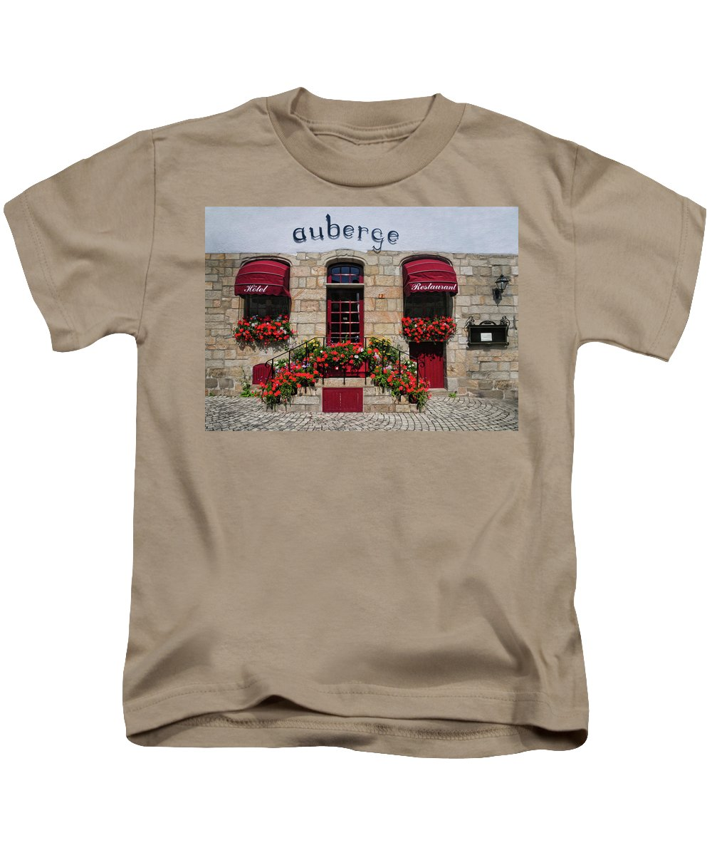 French Restaurant Kids T-Shirt featuring the photograph French Restaurant  by Dave Mills