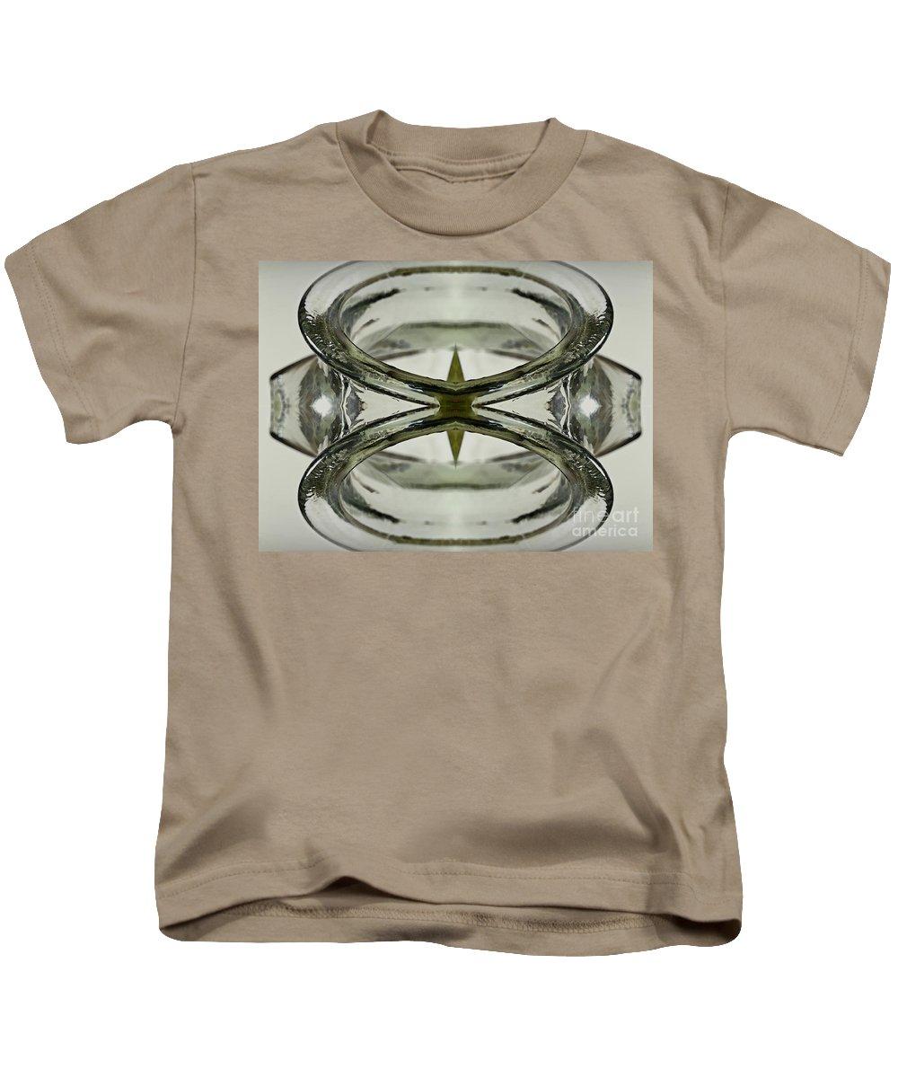 Symmetrical Kids T-Shirt featuring the photograph Glas Art by Heiko Koehrer-Wagner