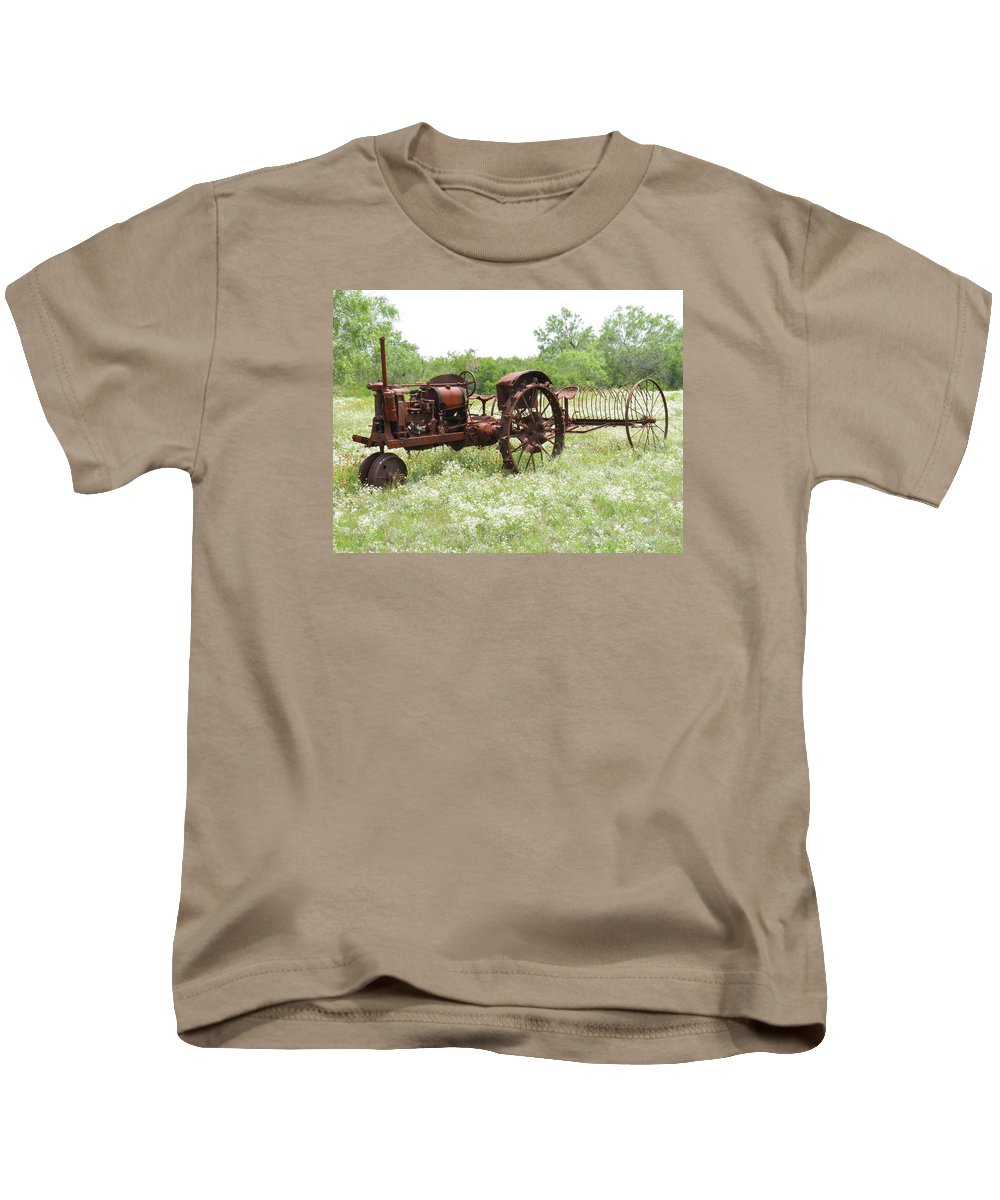 Tractor Kids T-Shirt featuring the photograph Good Ole Days by Sandra Vasko