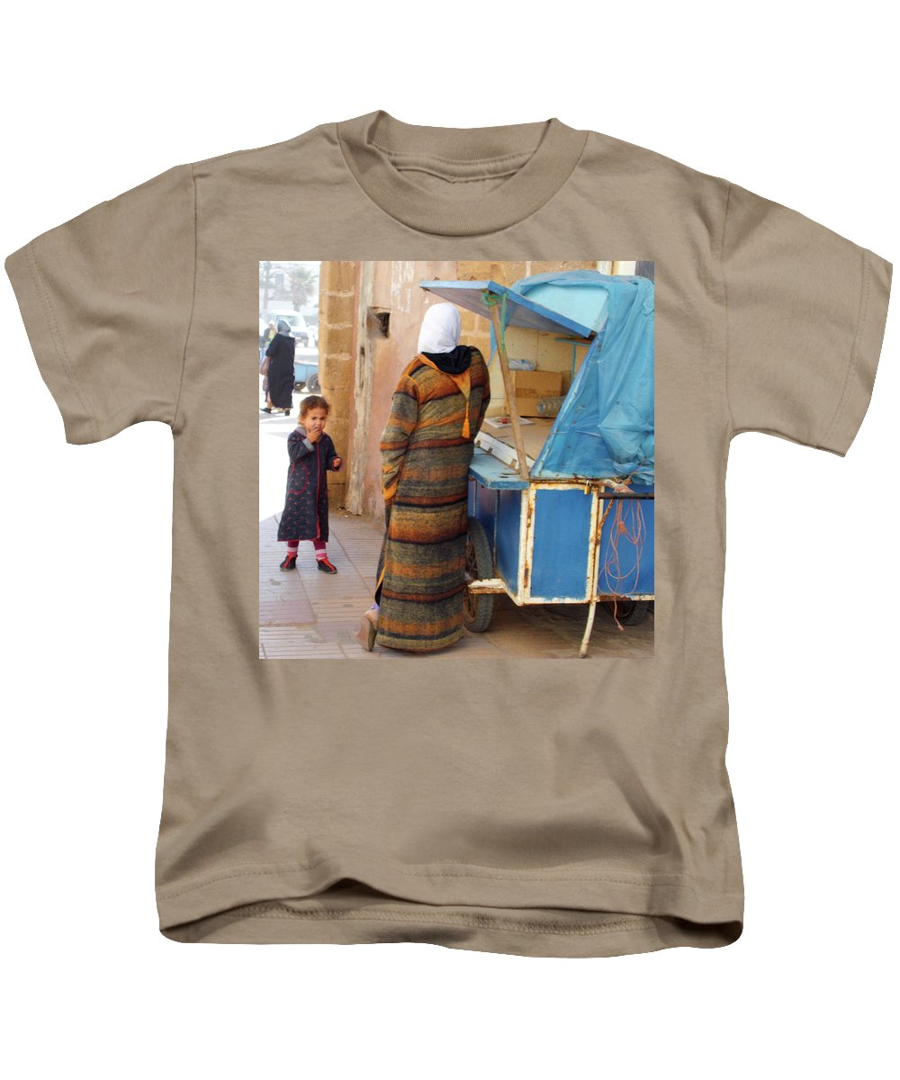 Morocco Kids T-Shirt featuring the photograph Got Any Sweeties by Miki De Goodaboom