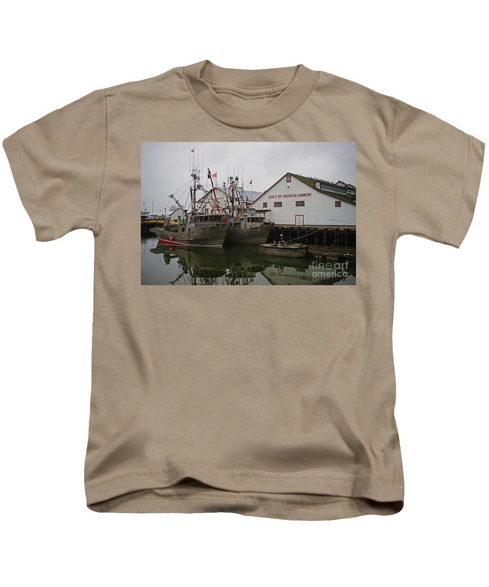 Fishing Boats Kids T-Shirt featuring the photograph Gulf Of Georgia Co. by Randy Harris