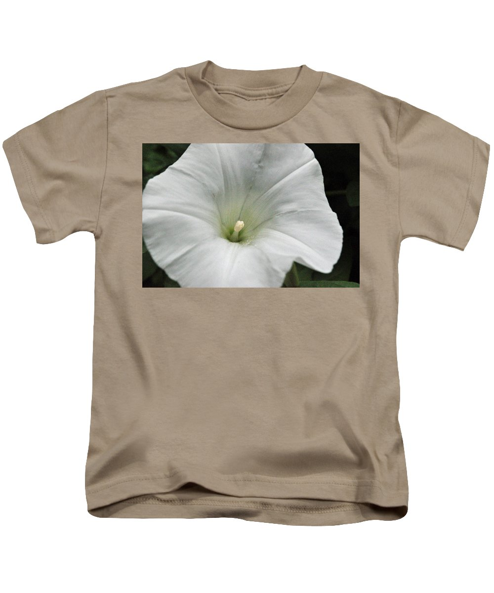 Floral Kids T-Shirt featuring the photograph Hedge Morning Glory by Tikvah's Hope