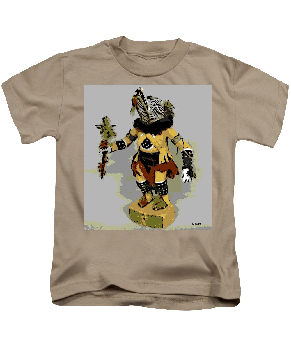 Hopi Dancer Kids T-Shirt featuring the photograph Hopi Dancer by George Pedro