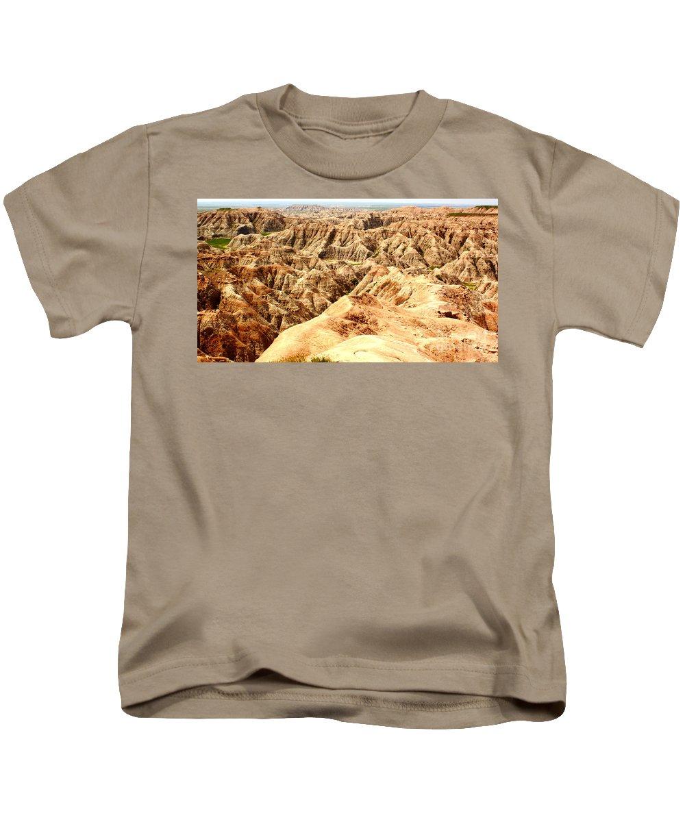 Dakota Kids T-Shirt featuring the photograph Badlands Of South Dakota by Robert Frederick