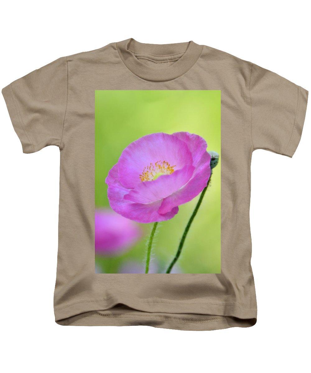 Pink Poppy Kids T-Shirt featuring the photograph Just Call Me Pink by Saija Lehtonen