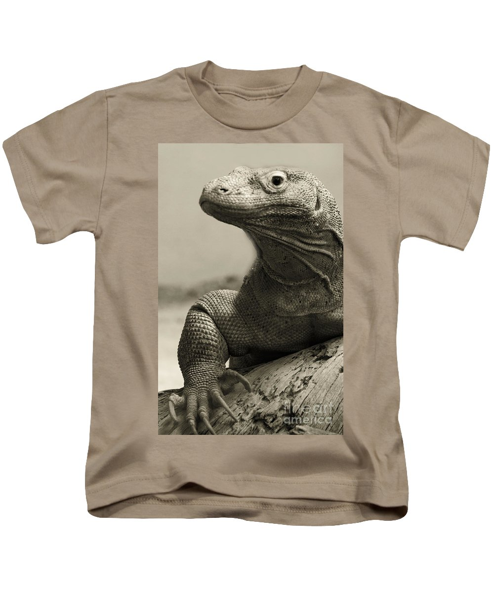 Komodo Dragon Kids T-Shirt featuring the photograph Komodo Dragon by Heather Applegate