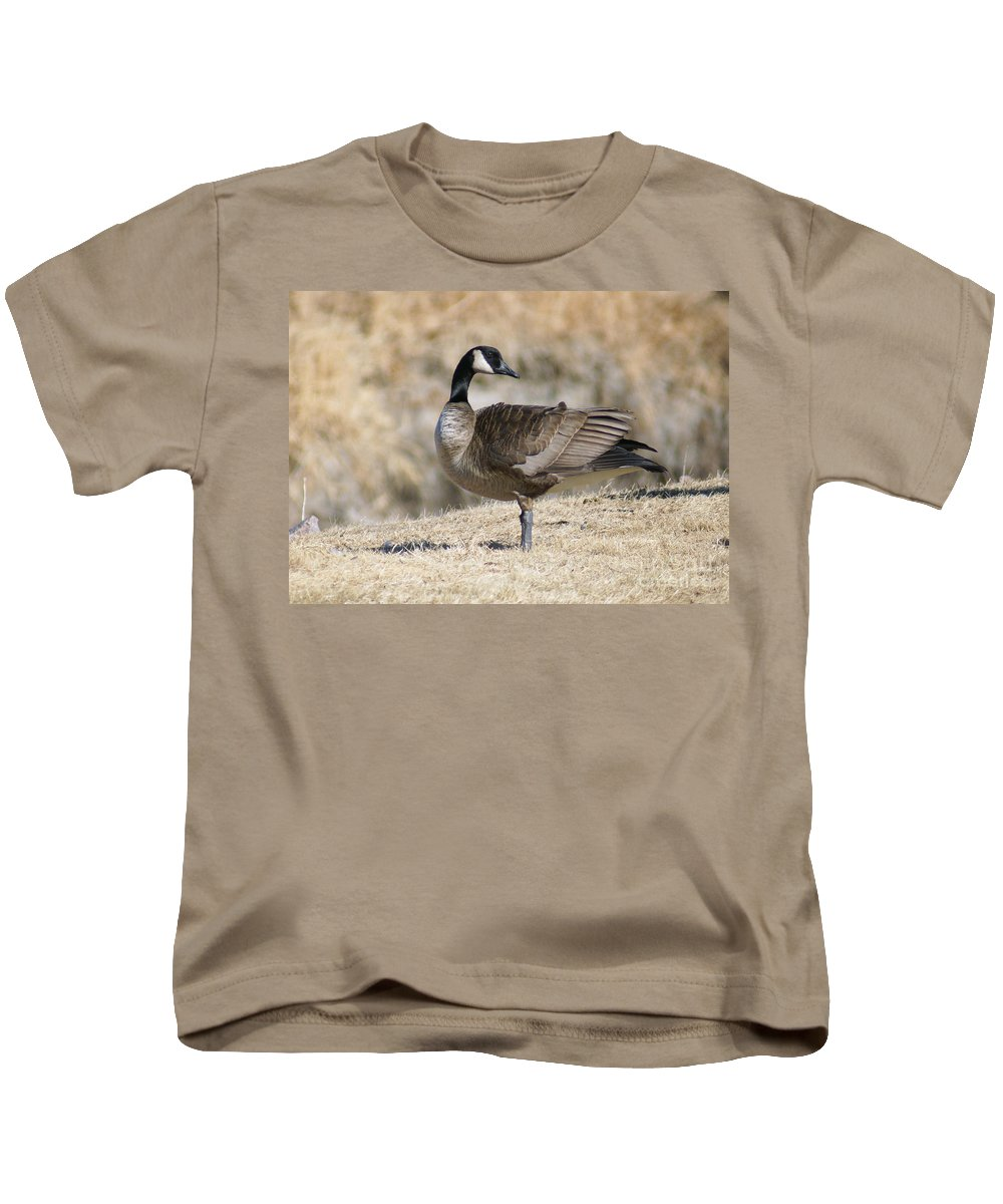 Goose Kids T-Shirt featuring the photograph Looking Back by Lori Tordsen