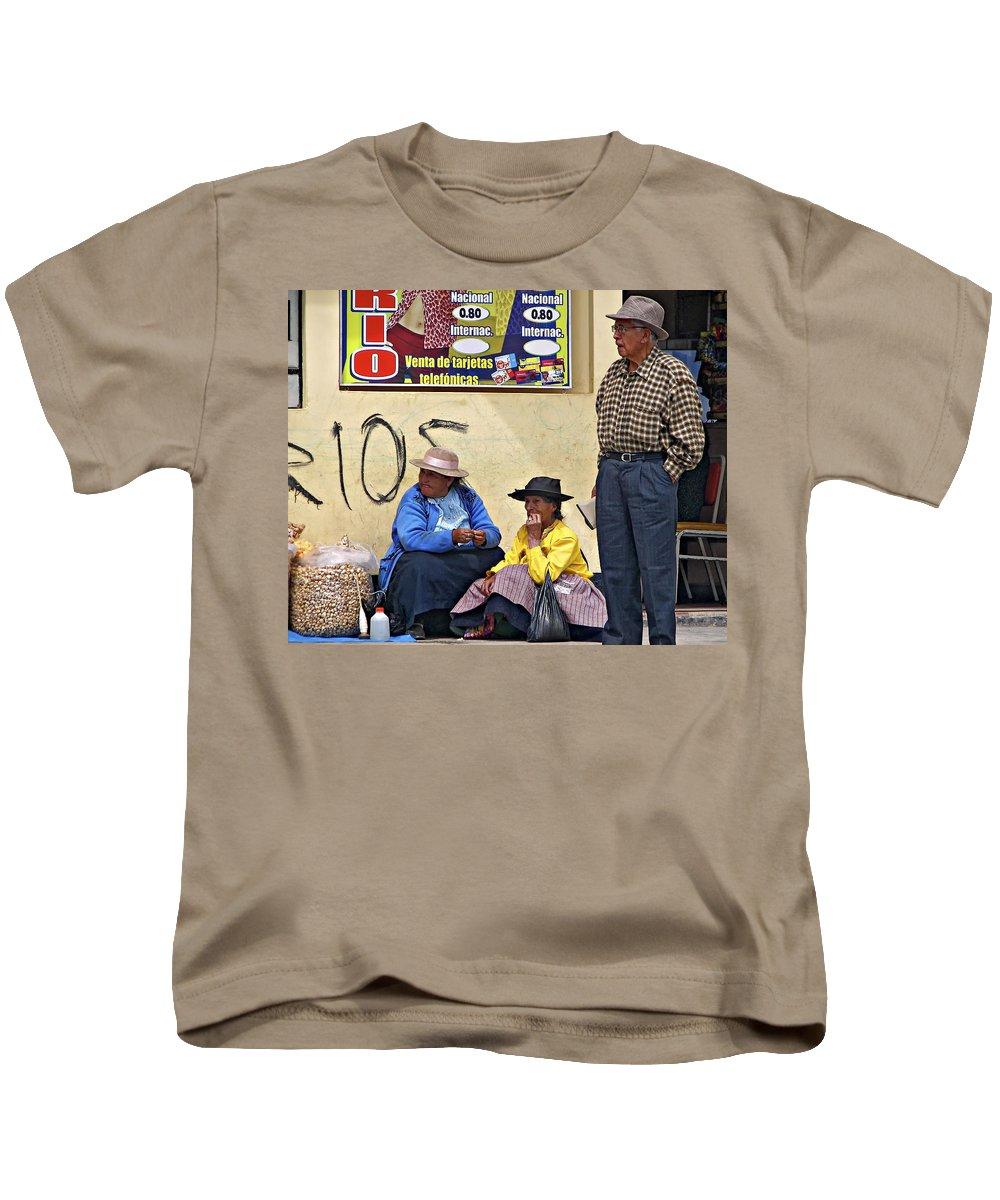 Peru Kids T-Shirt featuring the photograph Market Day by Steve Harrington