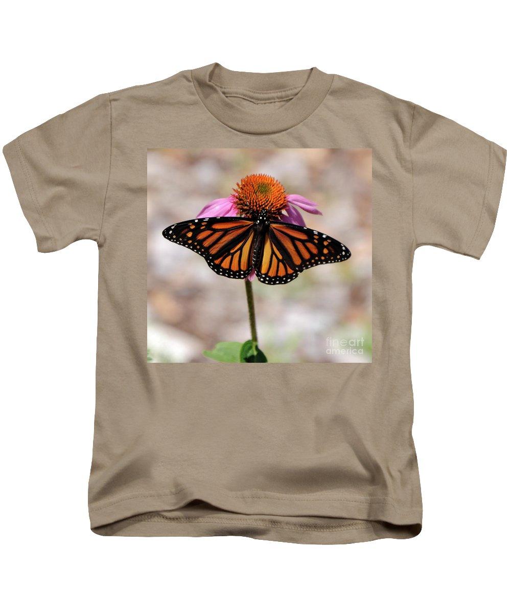 Monarch Kids T-Shirt featuring the photograph Monarch by Ronald Grogan