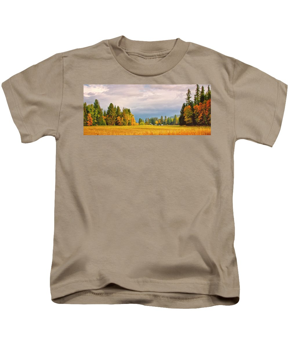 Autumn Color Kids T-Shirt featuring the photograph Morning On The Dufort by Albert Seger