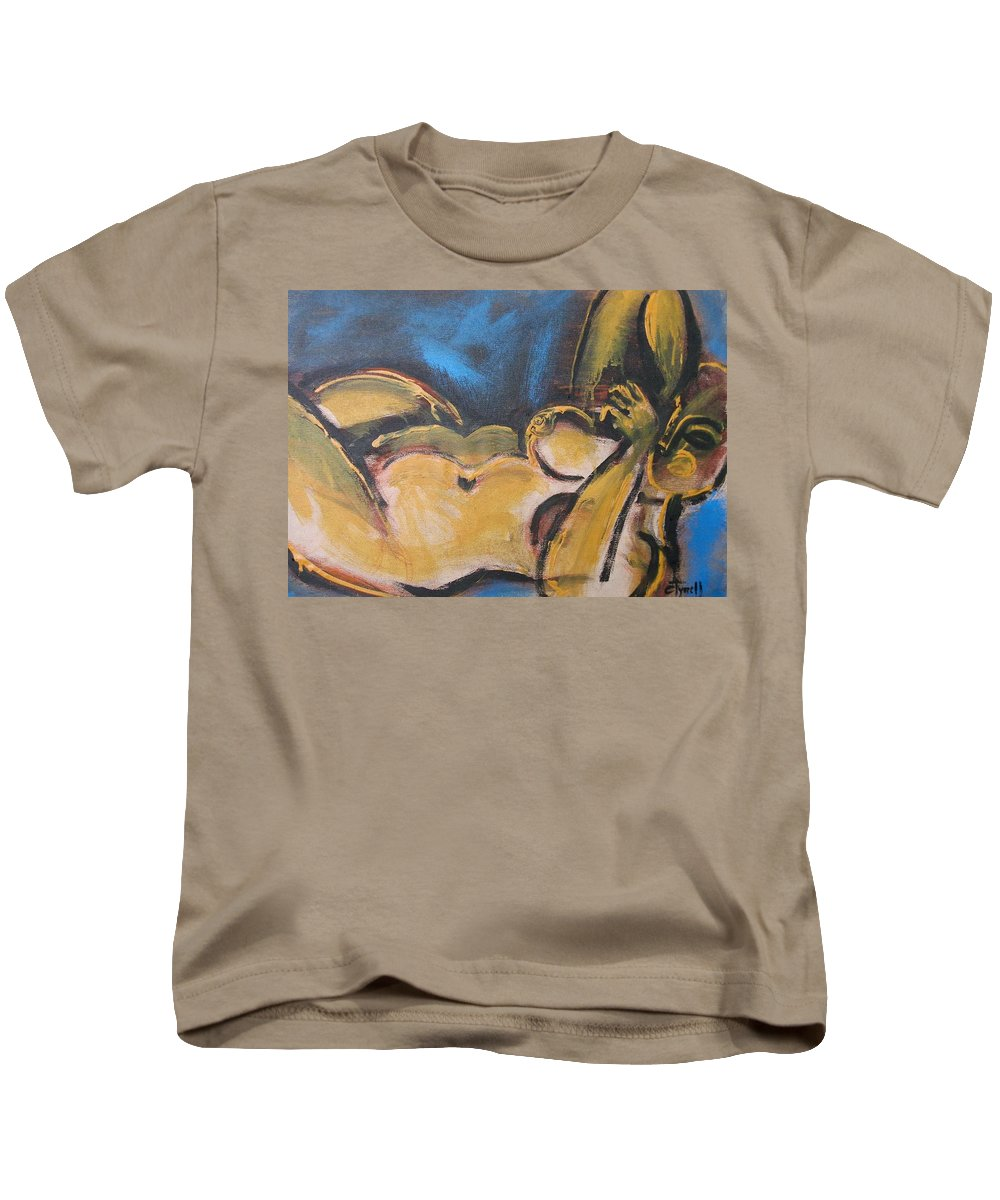 Nocturne Kids T-Shirt featuring the painting Nocturne - Nudes Gallery by Carmen Tyrrell
