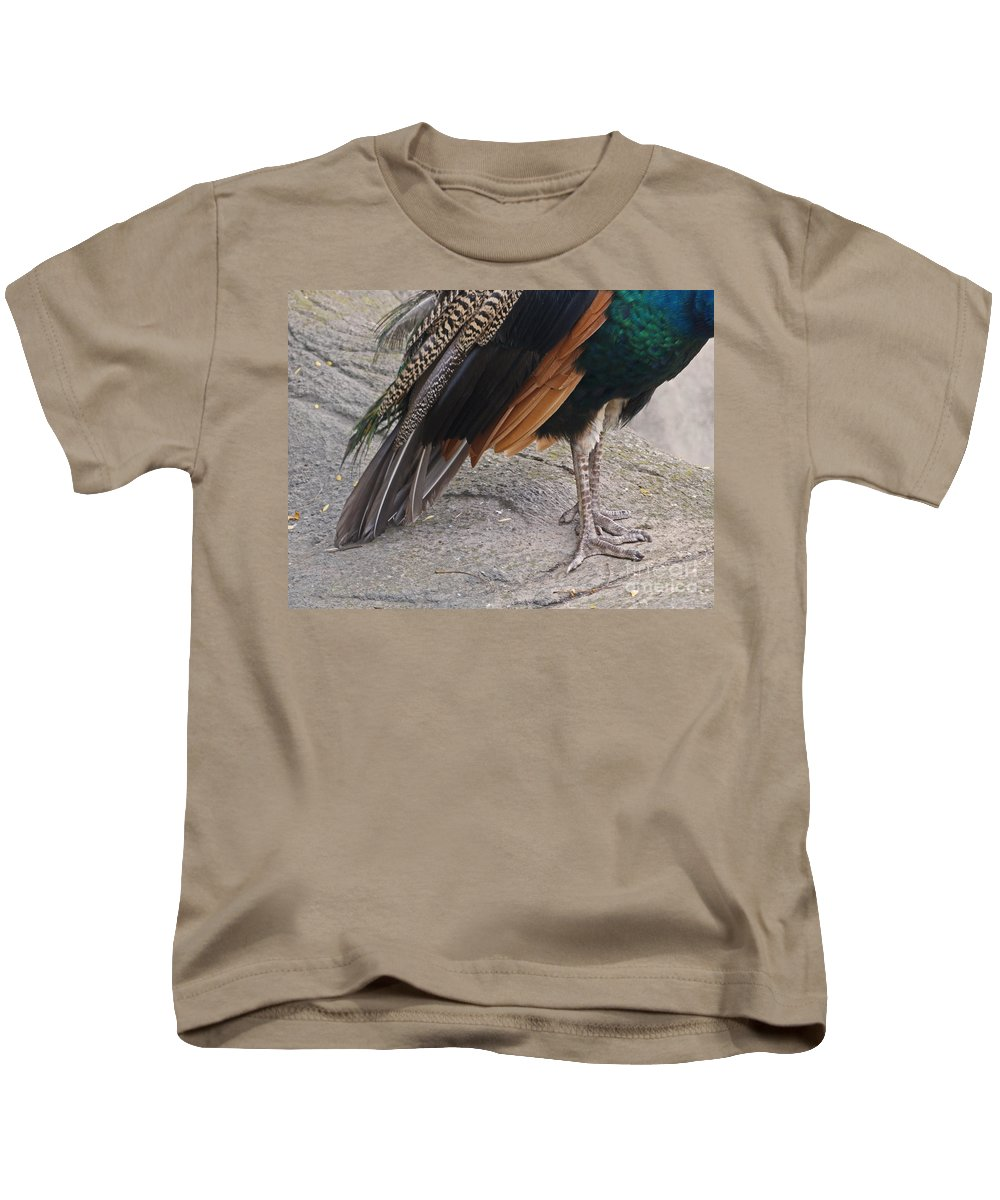 Peahen Kids T-Shirt featuring the photograph Her Kind Of Beauty by Ann Horn
