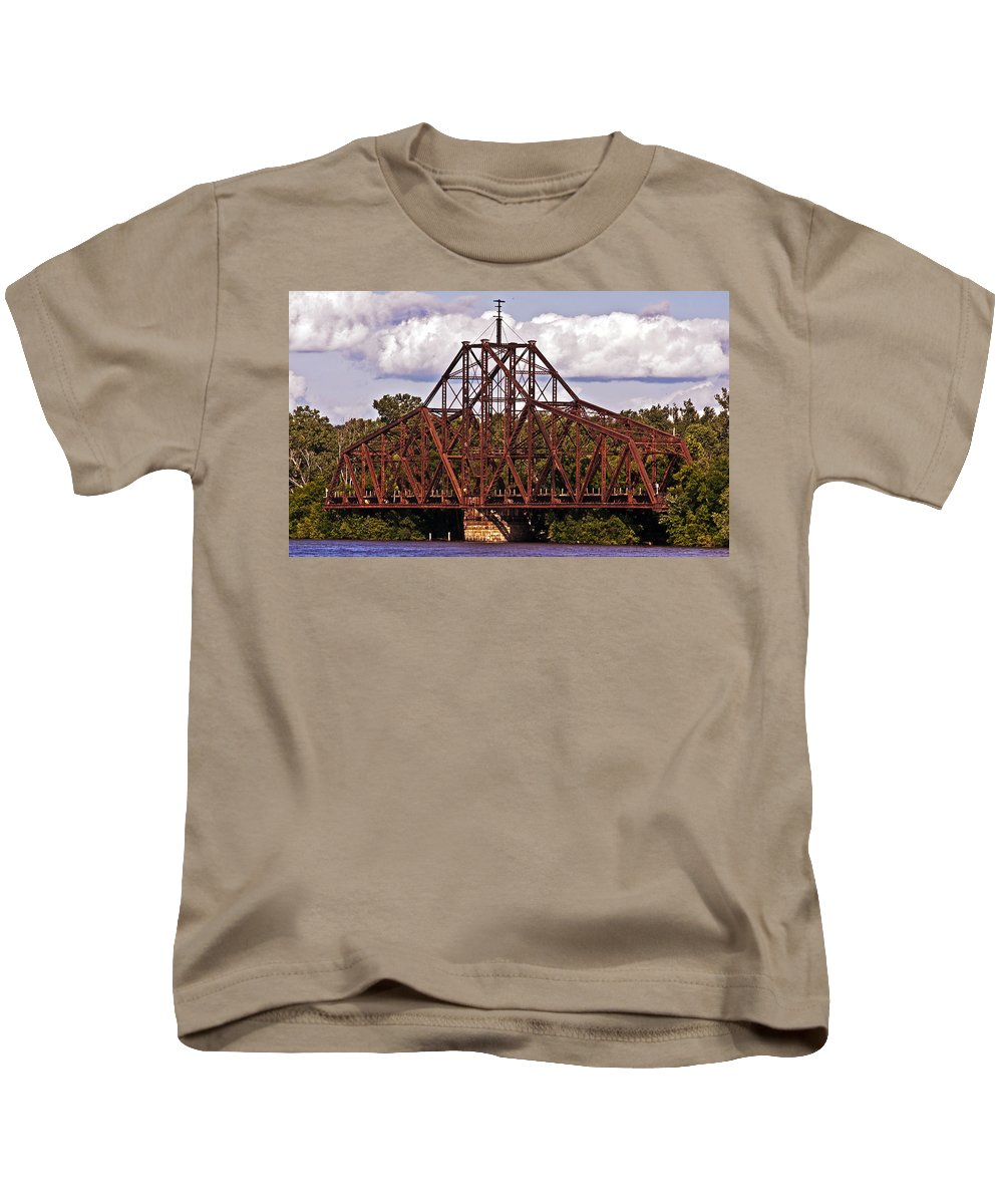 Iron Kids T-Shirt featuring the photograph Old Iron Works by Edward Peterson