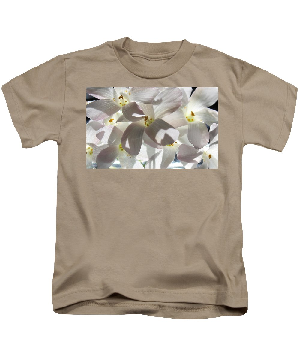 Floral Kids T-Shirt featuring the photograph Oxalis Flowers by Kume Bryant