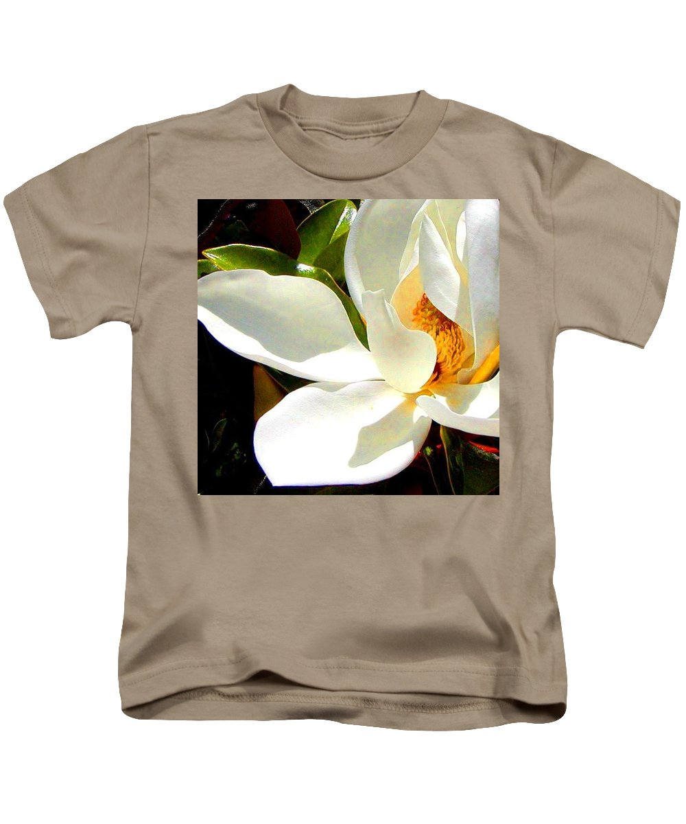 Roena King Kids T-Shirt featuring the photograph Photo For Sydneys Magnolia Painting by Roena King