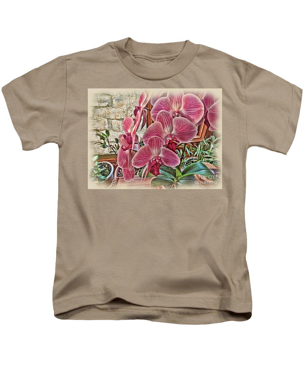 Rudolfiella Kids T-Shirt featuring the photograph Pink Orchids by Joan Minchak