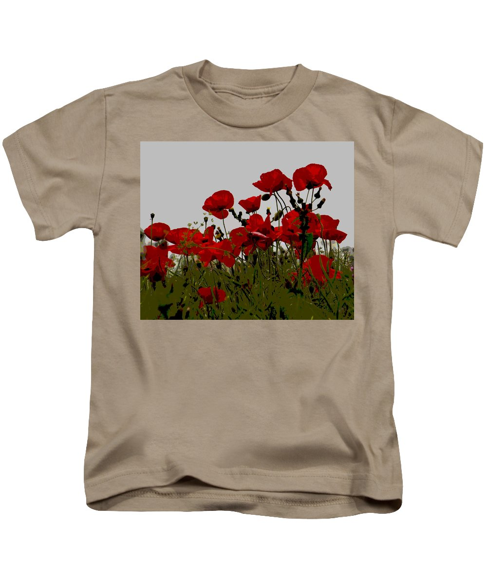 Poppy Kids T-Shirt featuring the photograph Poppies by David Pringle