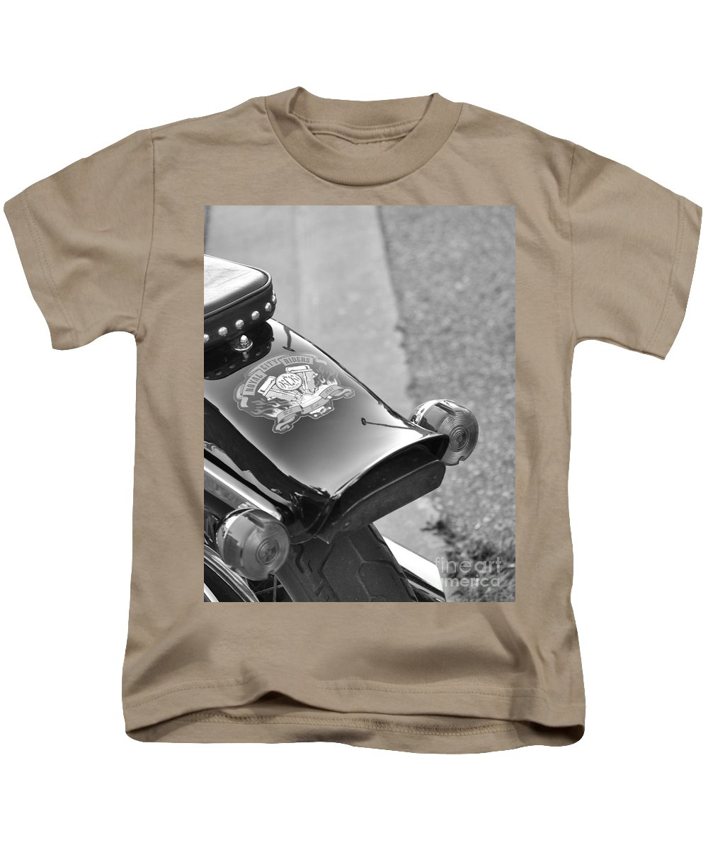 Motorcycle Kids T-Shirt featuring the photograph Rear View by Traci Cottingham