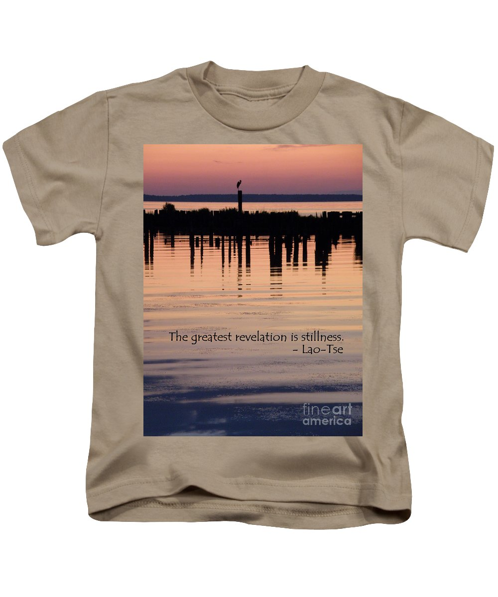 Stillness Kids T-Shirt featuring the photograph Revelation by Lainie Wrightson