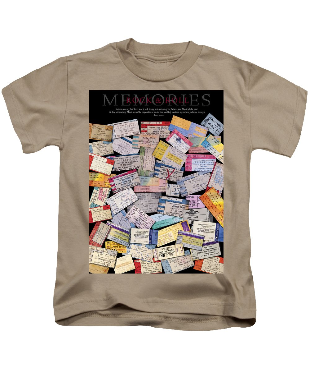 Posters Kids T-Shirt featuring the photograph Rock And Roll Memories by Stephen Anderson
