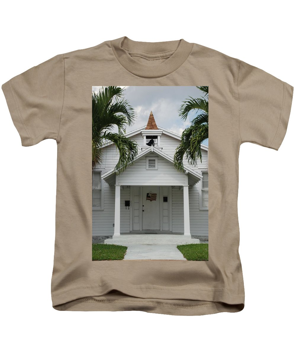 Architecture Kids T-Shirt featuring the photograph School House by Rob Hans