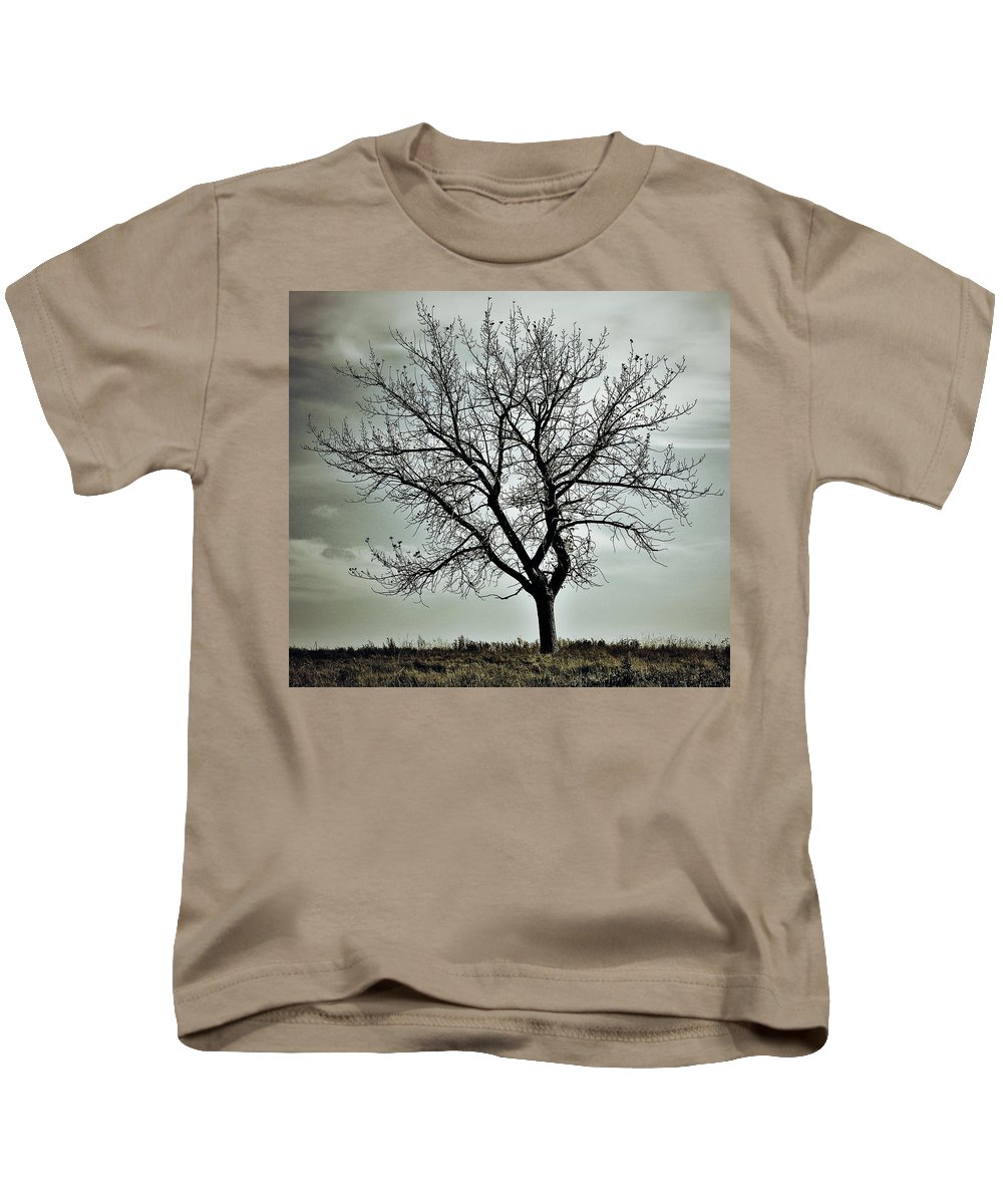 Street Photographer Kids T-Shirt featuring the photograph Secrets Of The Roots by The Artist Project