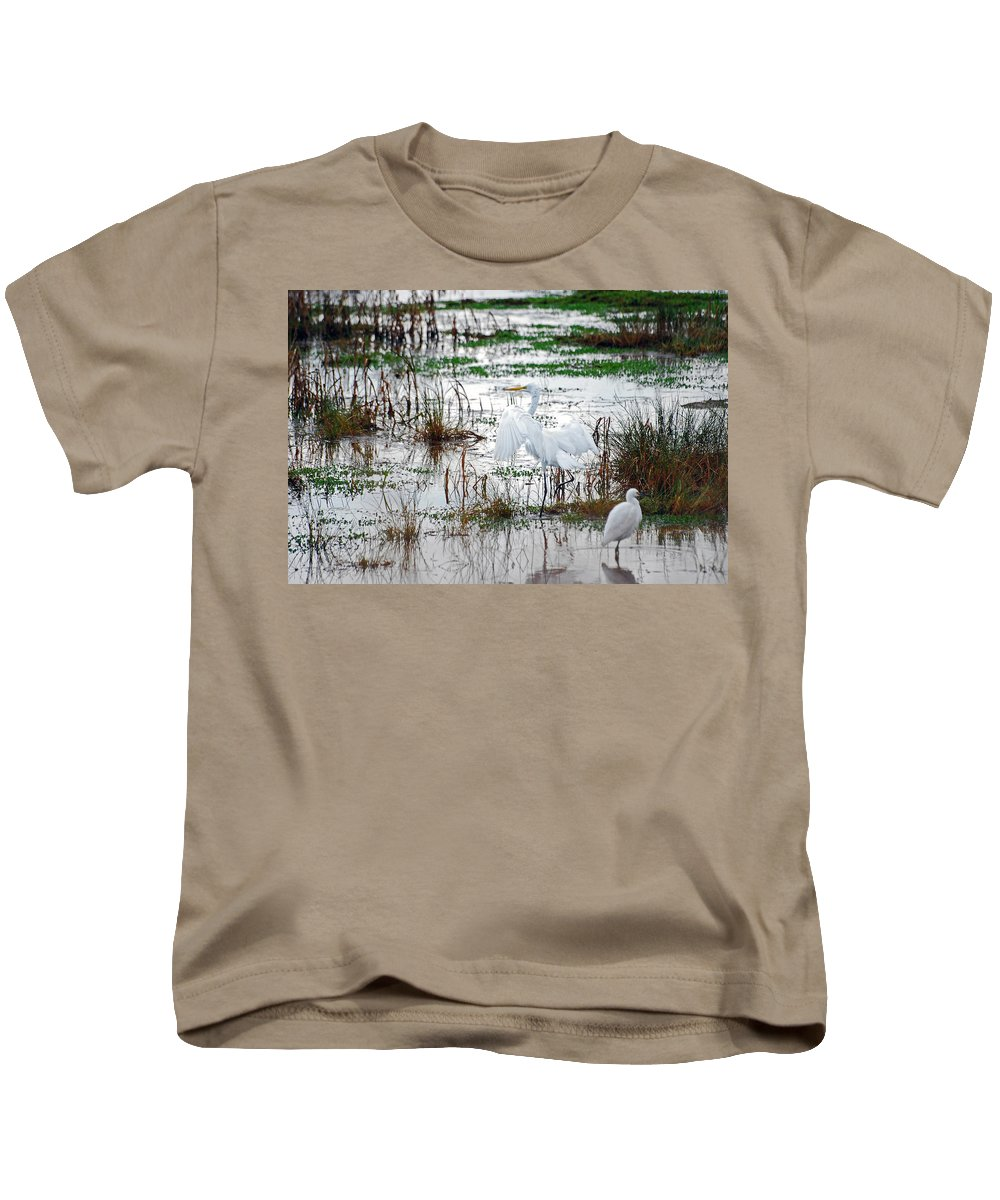 Great Egret Kids T-Shirt featuring the photograph Spread Your Wings by Lori Tambakis