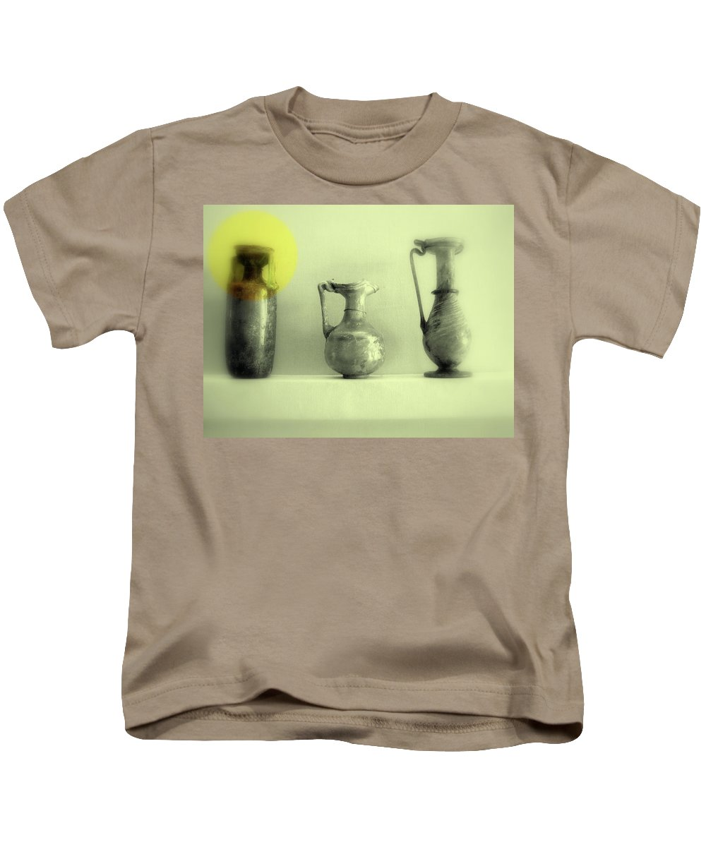 Vase Kids T-Shirt featuring the photograph Still Life - Roman Pitchers by Kathleen Grace