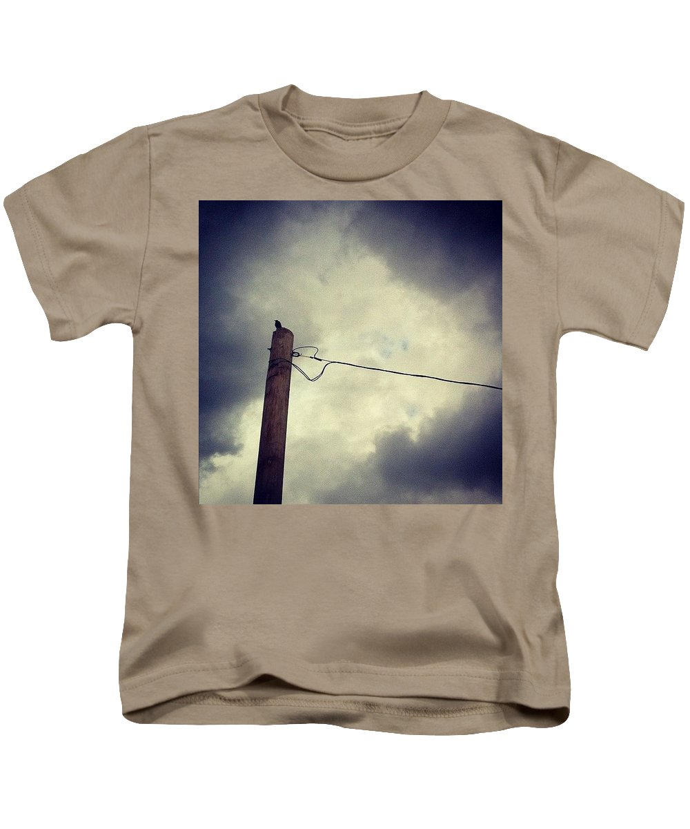 Storm Kids T-Shirt featuring the photograph #storm Watcher by Katie Cupcakes