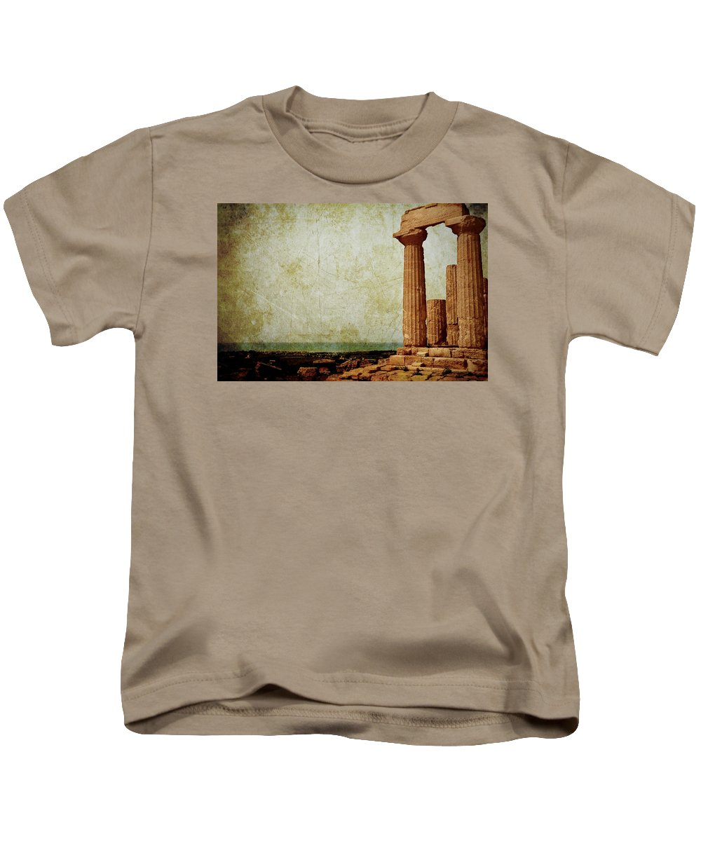 Temple Kids T-Shirt featuring the photograph Temple Of Juno by RicardMN Photography