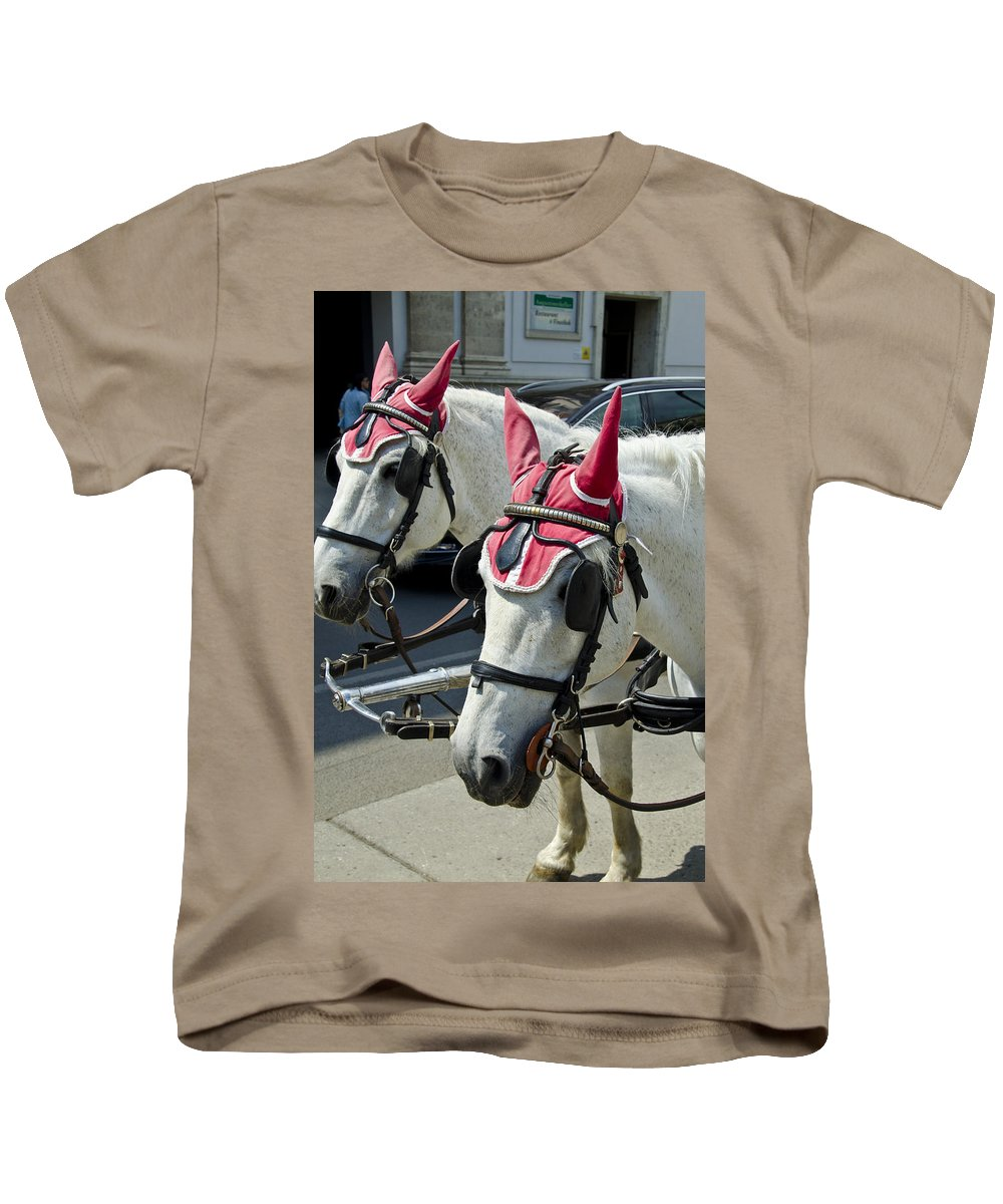 Horse Kids T-Shirt featuring the photograph That Was One Hell Of A Party by Jon Berghoff