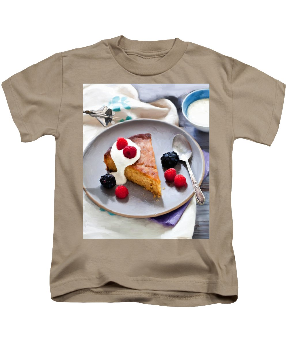 Airplane Kids T-Shirt featuring the digital art Those Pesky F-16's by Snake Jagger
