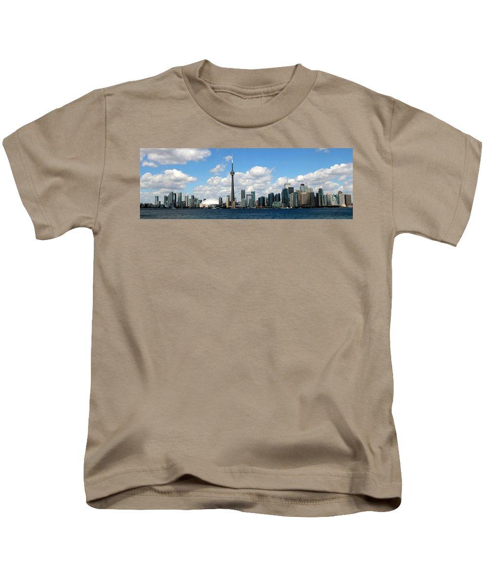 Toronto Skyline Kids T-Shirt featuring the photograph Toronto Skyline 10 by Andrew Fare