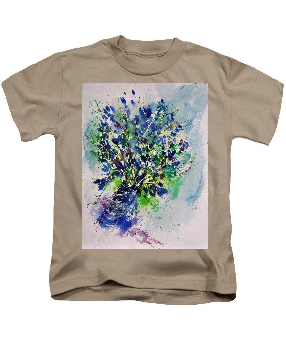 Flowers Kids T-Shirt featuring the painting Watercolor 110190 by Pol Ledent