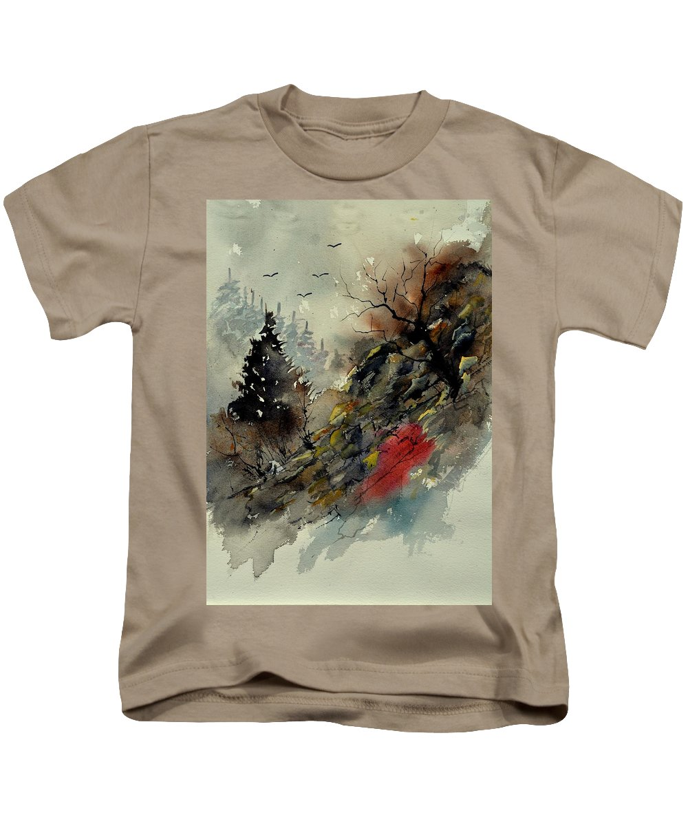 Landscape Kids T-Shirt featuring the painting Watercolor 213040 by Pol Ledent