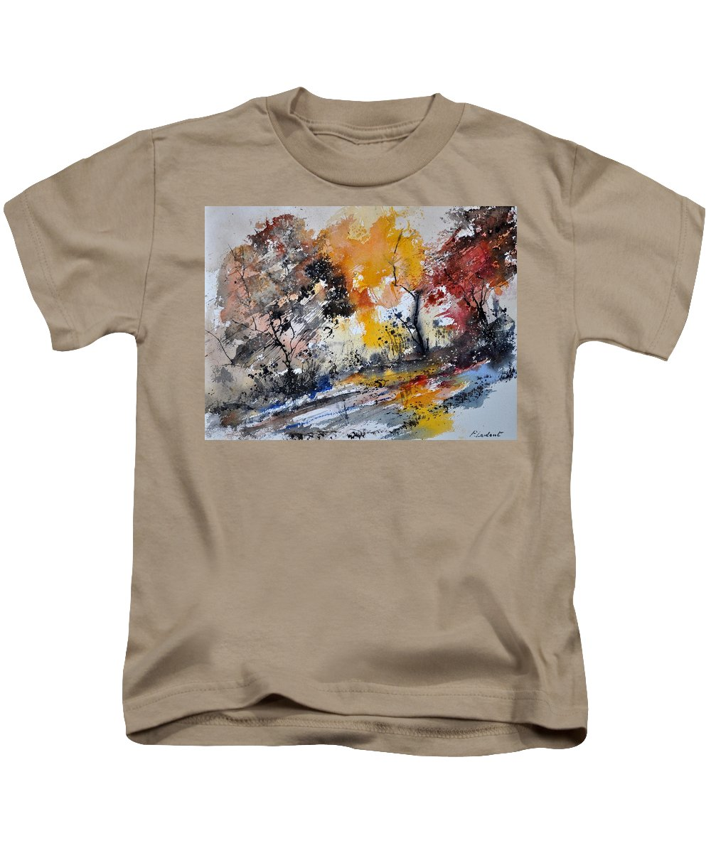 Landscape Kids T-Shirt featuring the painting Watercolor211020 by Pol Ledent