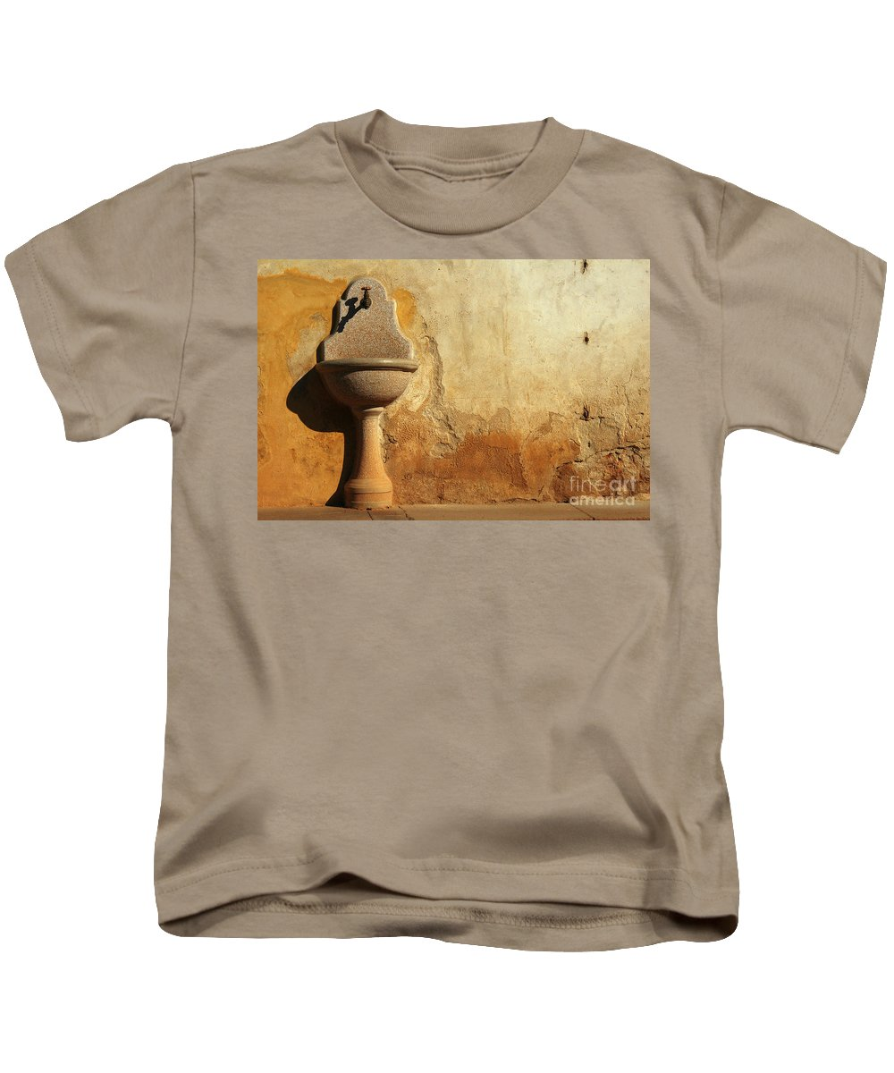 Water Kids T-Shirt featuring the photograph Weathered Water Faucet by Mike Nellums