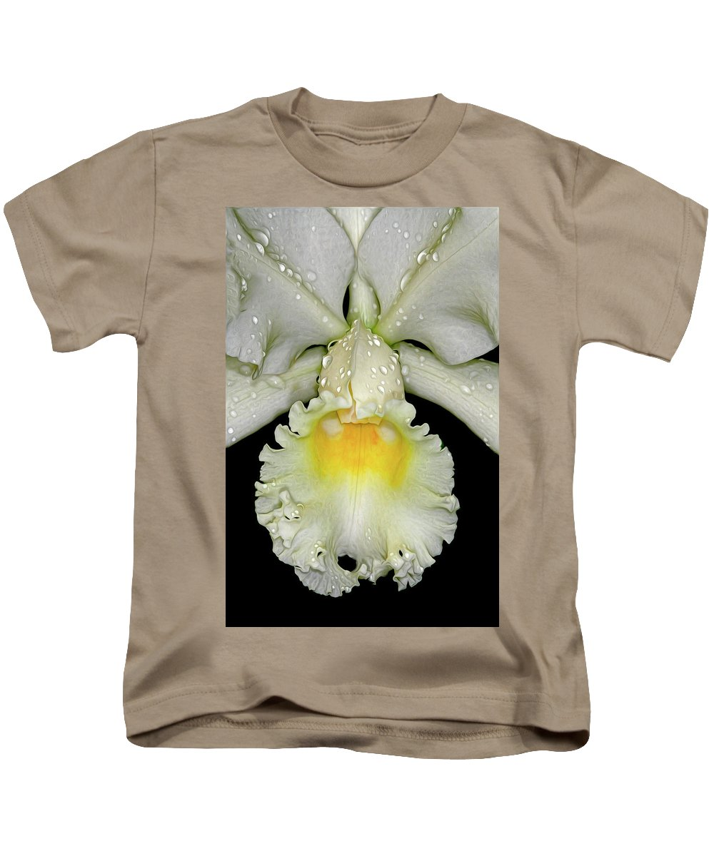 Orchid Kids T-Shirt featuring the photograph White Orchid by Dave Mills