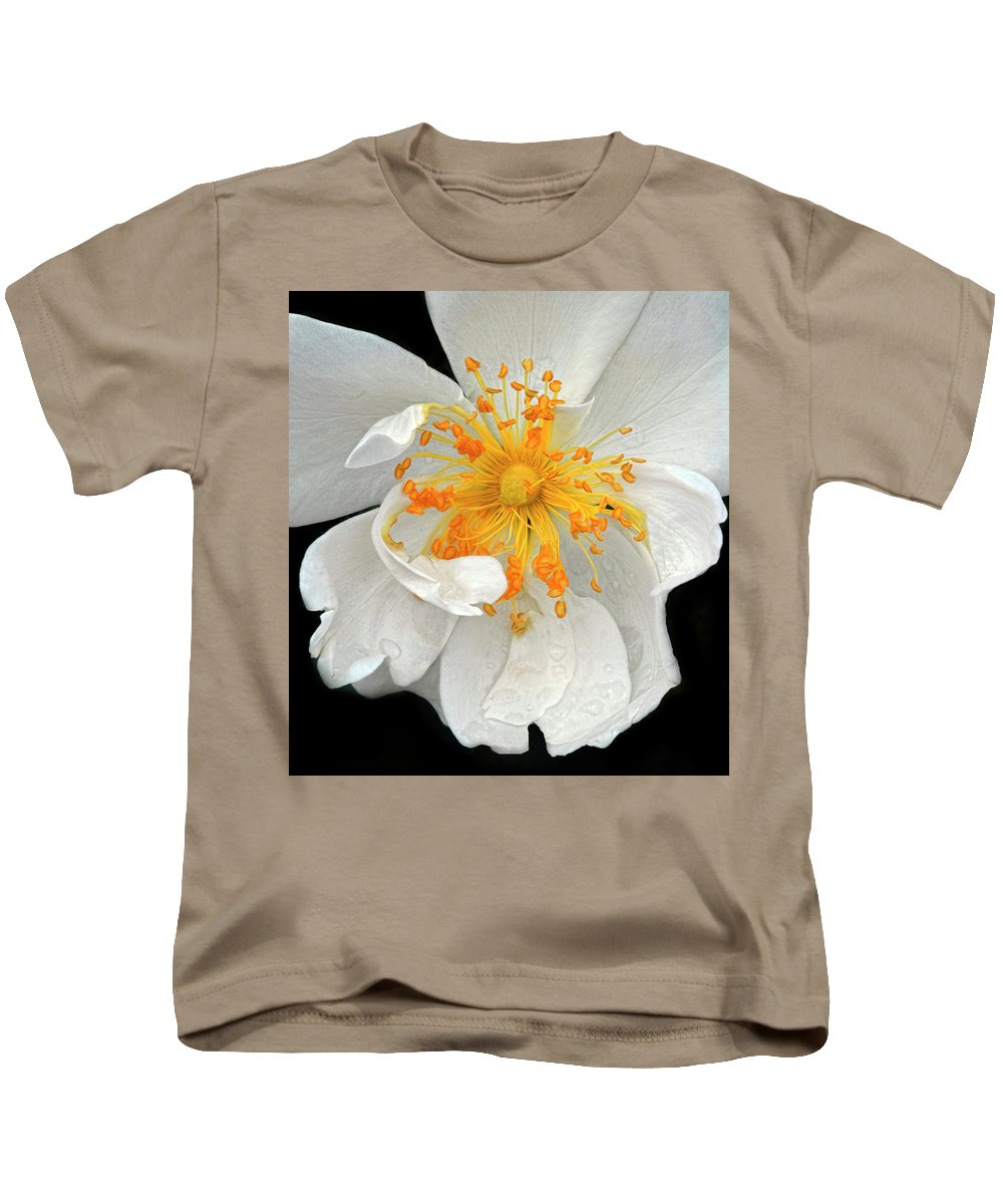 White Rose Kids T-Shirt featuring the photograph White Rose by Dave Mills