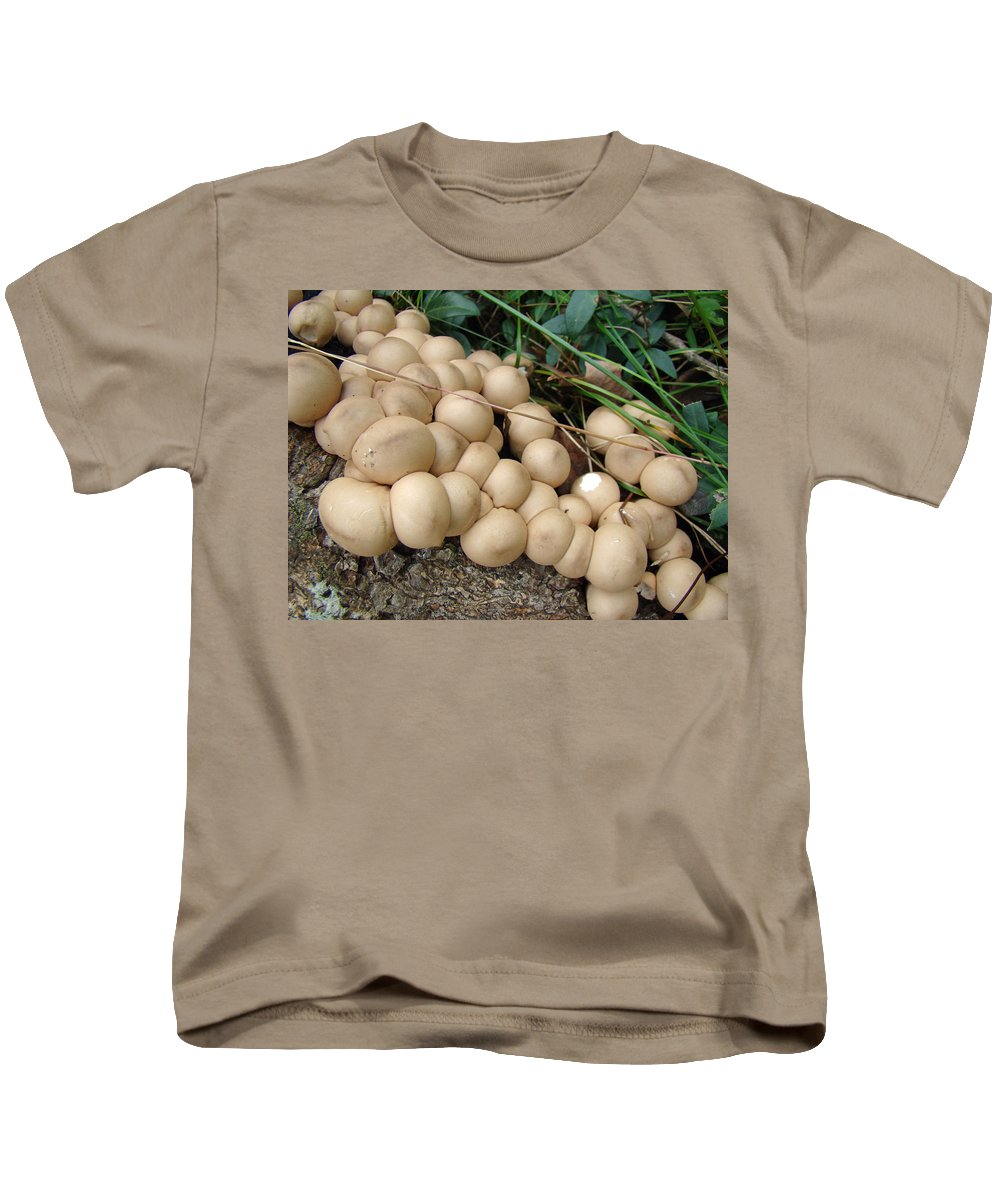 Mushroom Kids T-Shirt featuring the photograph You're Crowding Me by Mother Nature