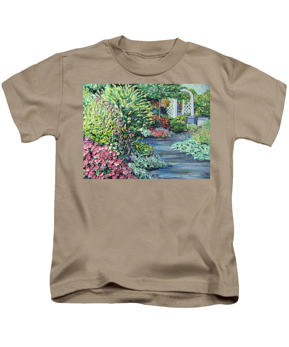 Garden Kids T-Shirt featuring the painting Amelia Park Pathway by Richard Nowak