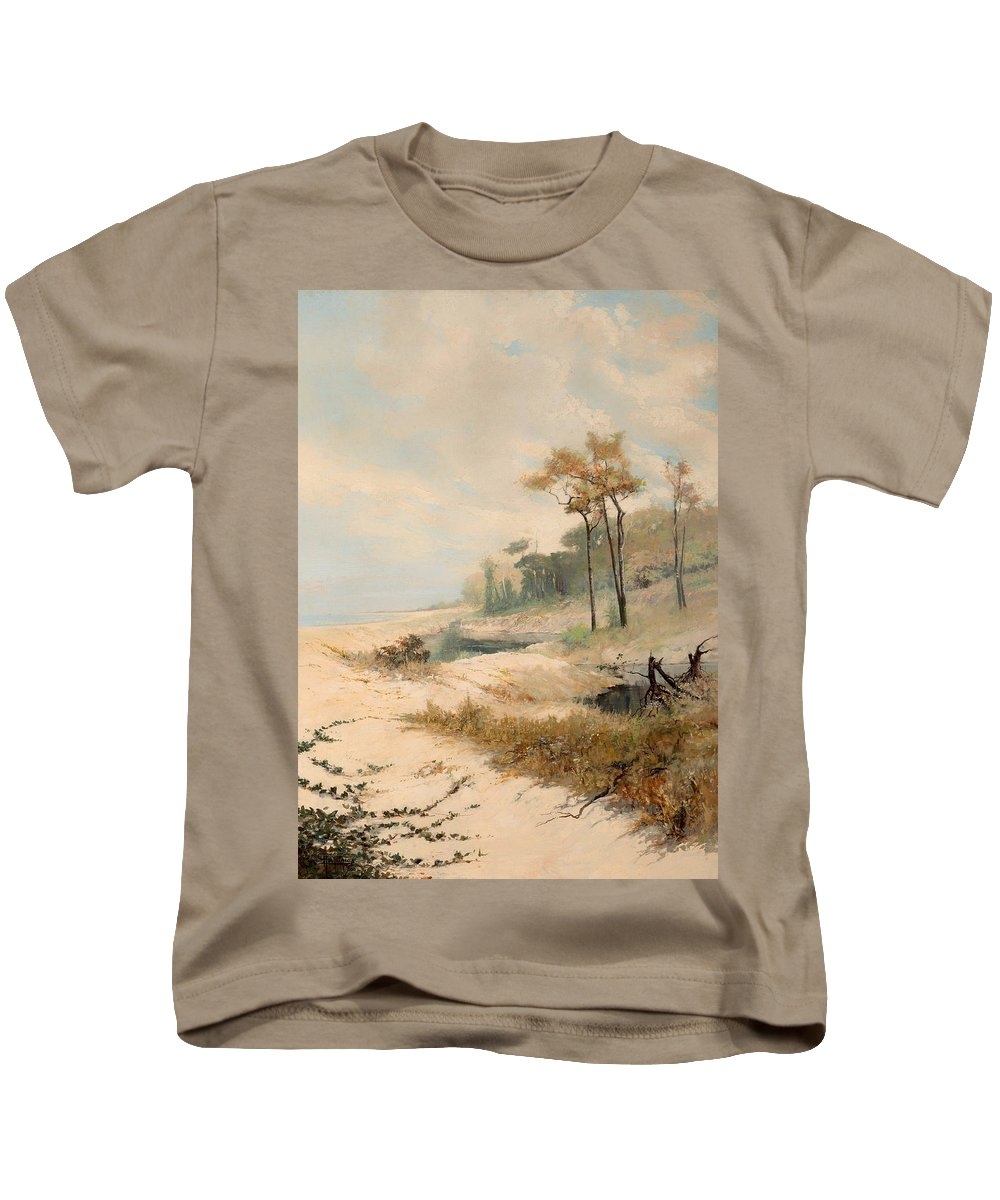 Painting Kids T-Shirt featuring the painting Cabralia Bay by Mountain Dreams