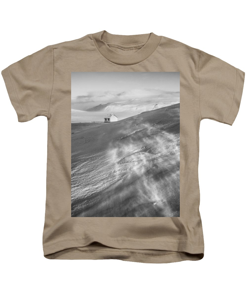Iceland Kids T-Shirt featuring the photograph Iceland Winter by Dan Leffel