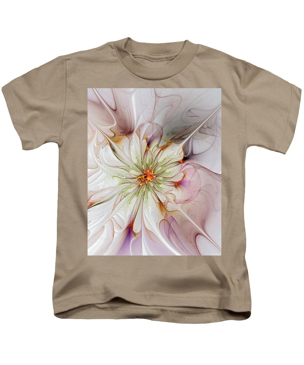 Digital Art Kids T-Shirt featuring the digital art In Full Bloom by Amanda Moore