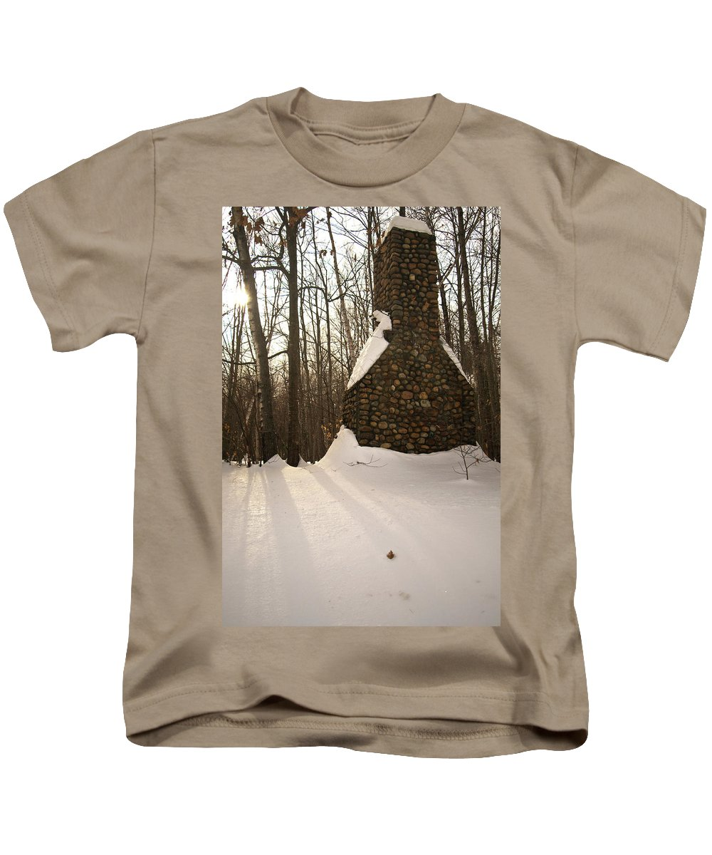 white Mountains Kids T-Shirt featuring the photograph Left Behind by Paul Mangold